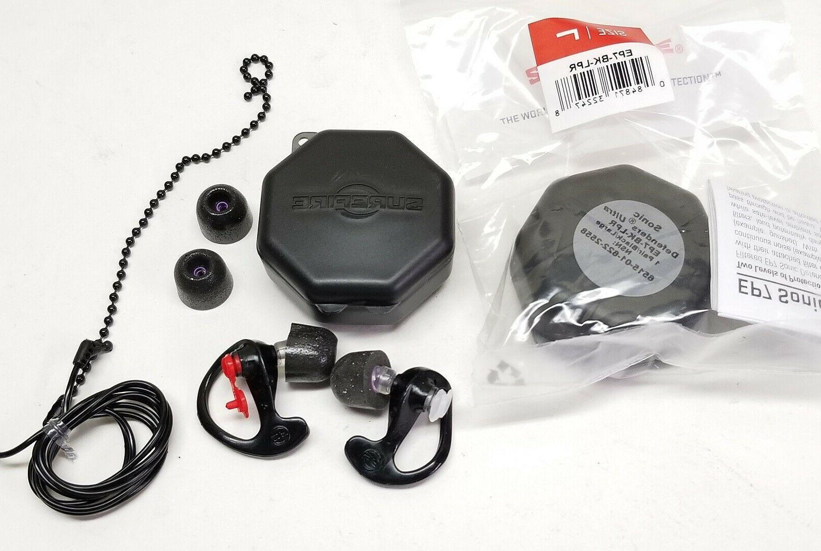 SureFire Defenders Ultra Earplugs LARGE Foam Tip EP7-BK-LPR