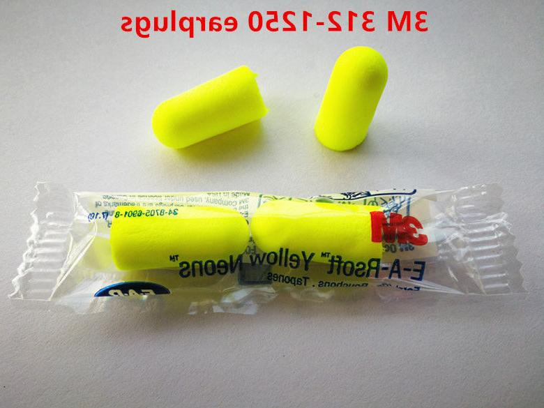 3M E-A-Rsoft 312-1250 Yellow Neon Dispose Earplug 33dB Sleep
