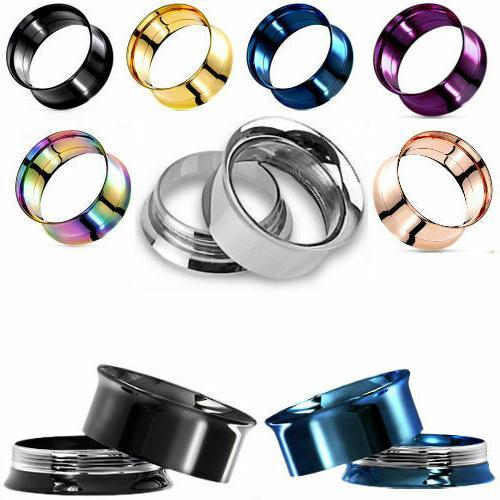 ear gauges ear plugs 316l stainless steel