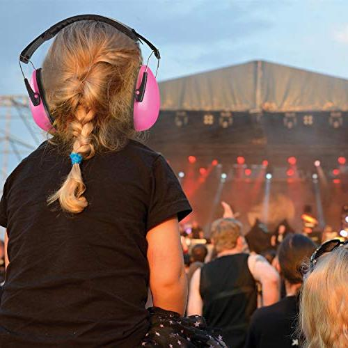 Ear Muffs Noise - Pink and Noise Cancelling Reduction Safety Children and Shooting, Range, Mowing, by MEDca