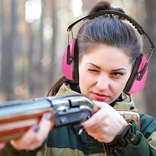 - Pink Hearing and Cancelling Safety Ear Muffs, Children Shooting, Hunting, Gun Range, by