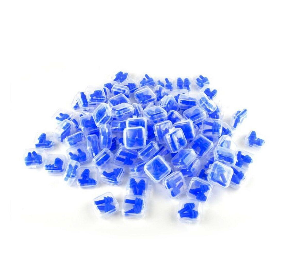 ear plugs 10 pairs blue silicone ear