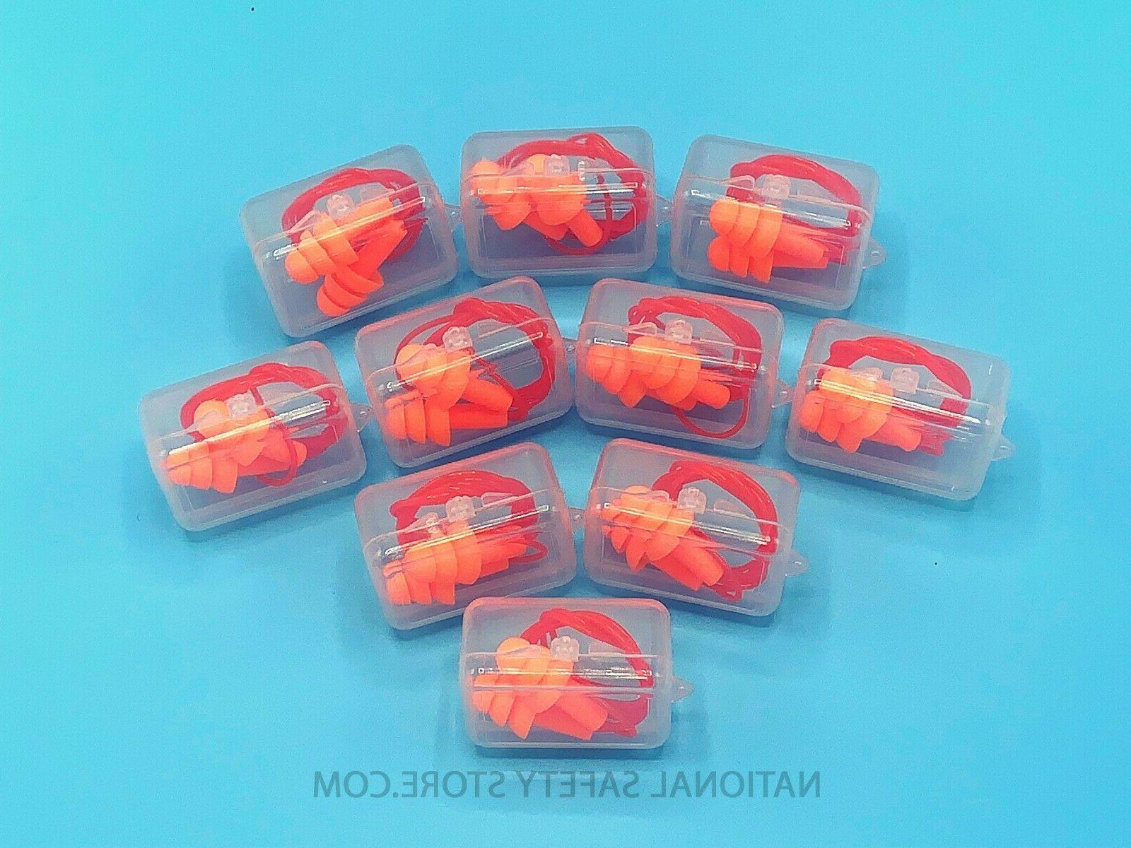 Ear 10 Orange Silicone Plugs 33dB Anti Protection