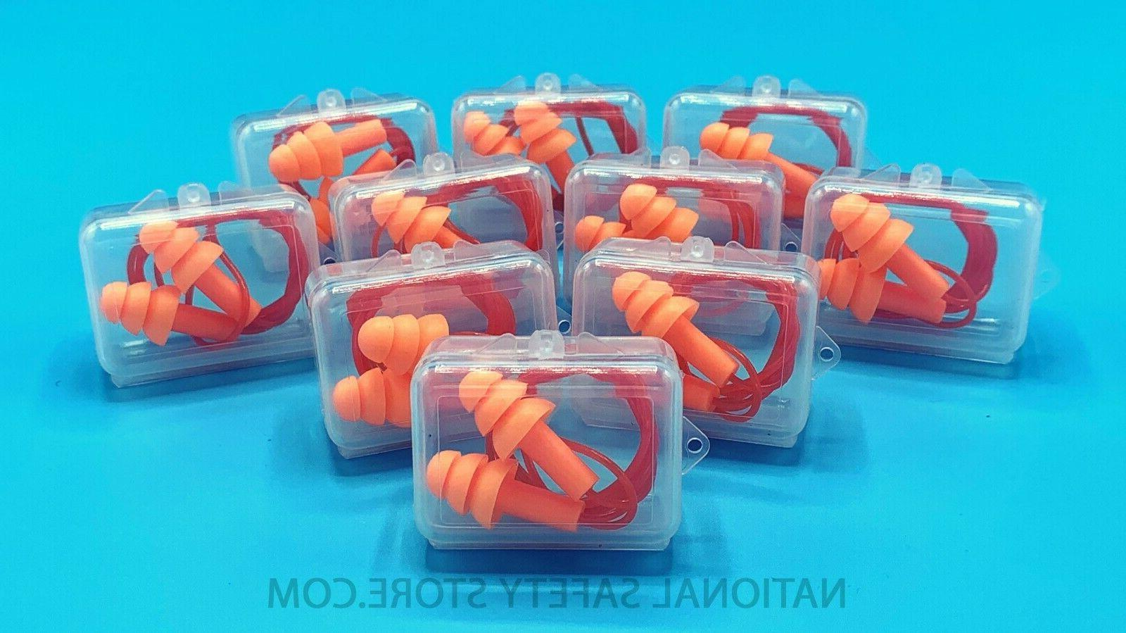 ear plugs 10 pairs orange silicone ear