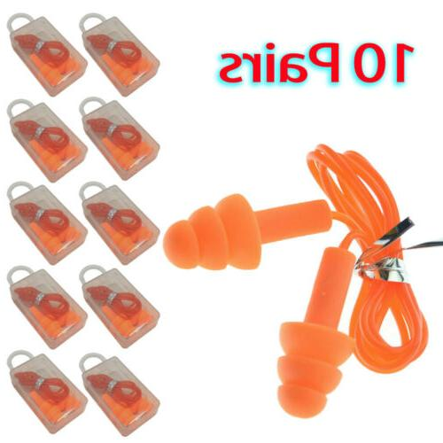 ear plugs 10 pairs orange silicone ear