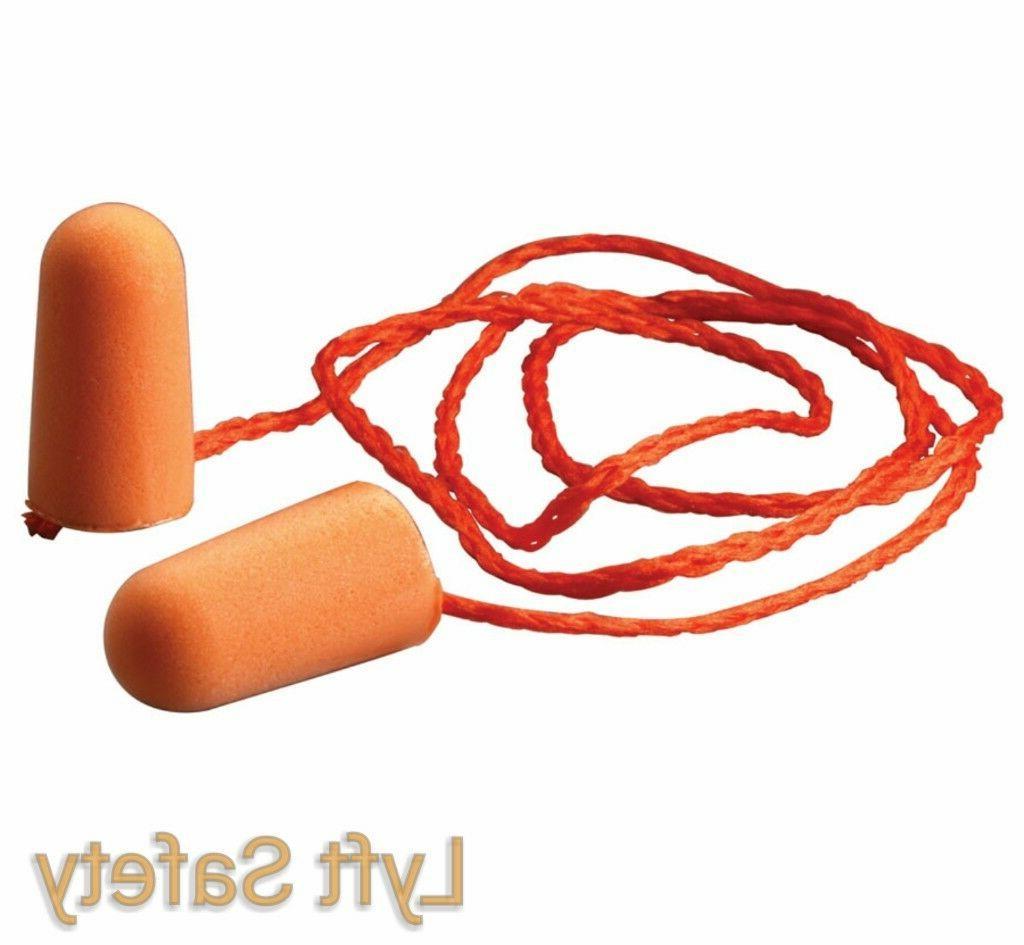 3M Ear Plugs 1110 Noise Reduction Earplugs 29dB Orange Foam