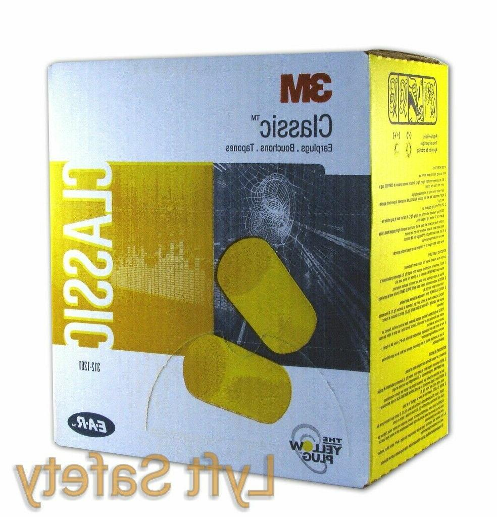 3M Ear Plugs E-A-R Classic Noise Reduction 29dB Yellow Foam
