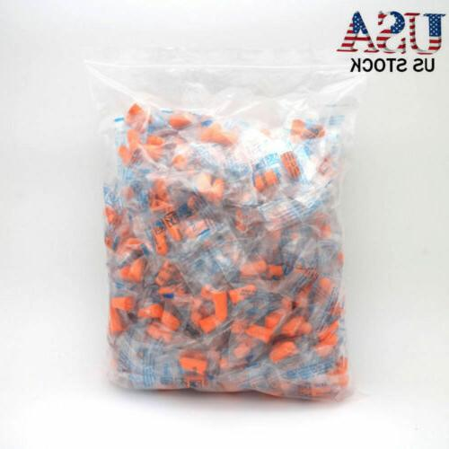 EarPlugs 50 Pair Orange Soft Foam Value Individually NRR 32D