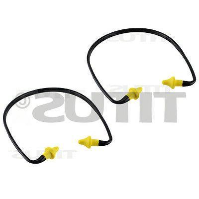 2 PACK EAR PLUGS NECK BAND SHOOTING FIRING RANGE HEARING NOI