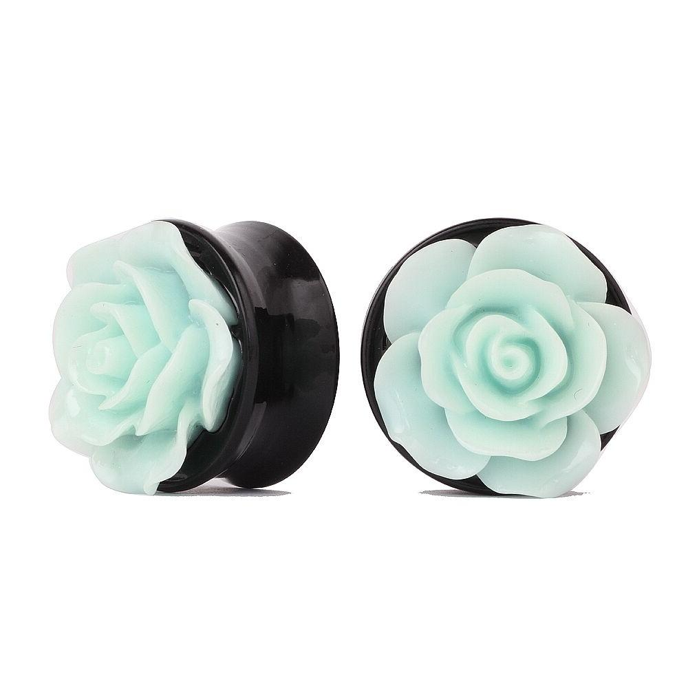 ear tunnels plugs acrylic flower piercing stretcher