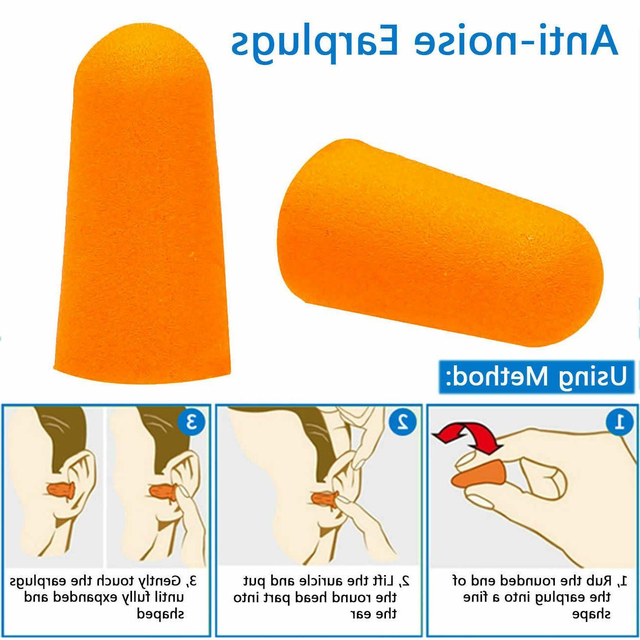 EarPlugs Pair Orange Soft Foam Value Individually NRR 32DB Travel Noise