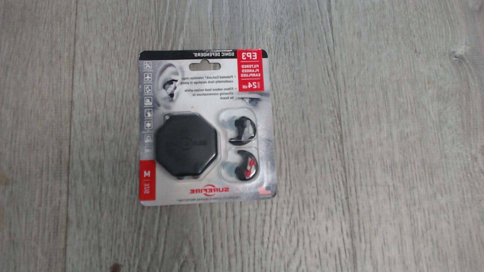 ep3 sonic defenders 24db filtered flanged earplugs