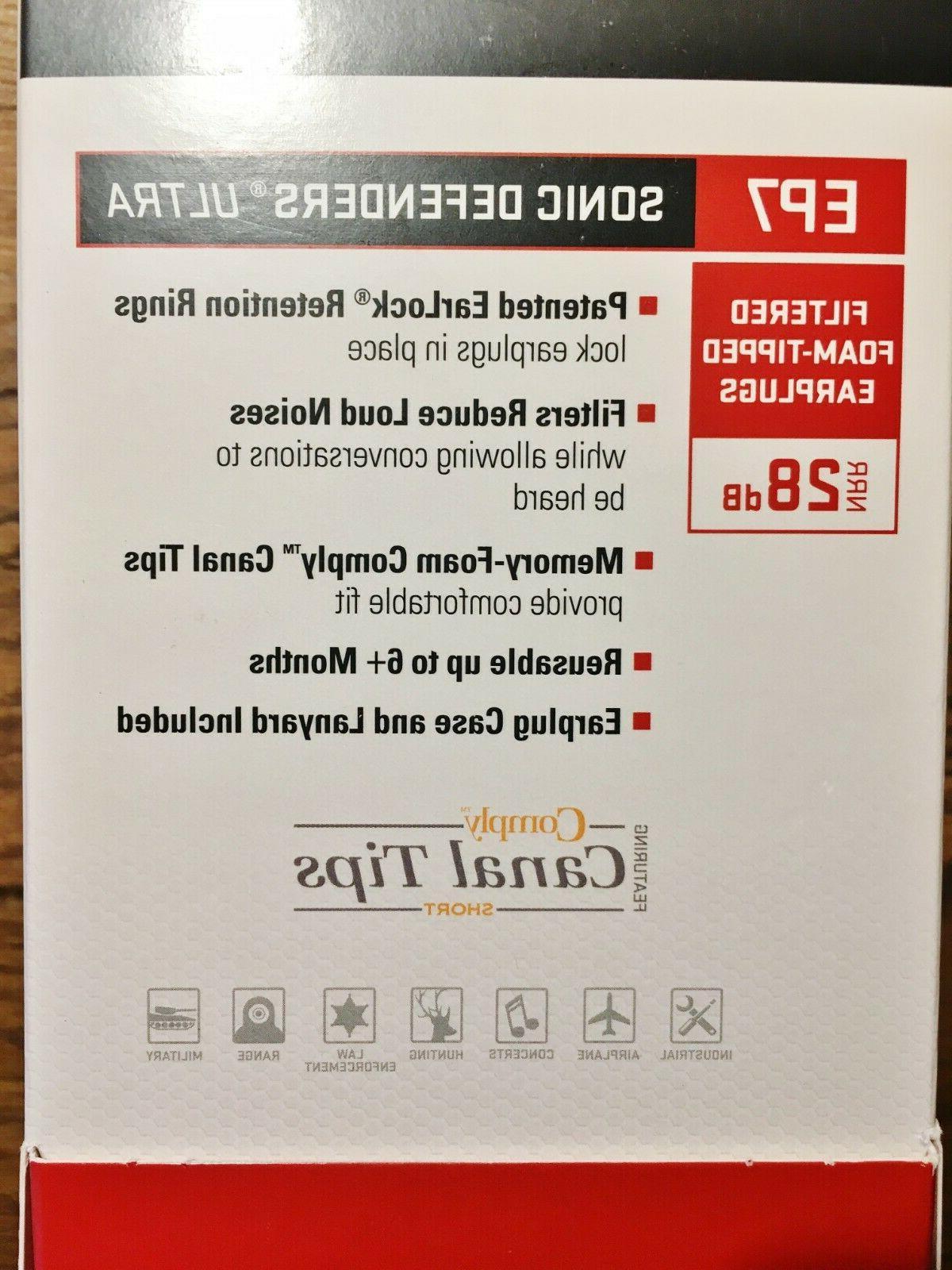 ULTRA Filtered 28dB Earplugs, Clear SMALL