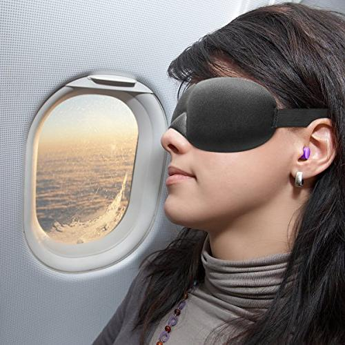 Drift to Sleep Mask with 2 Soft Foam Moldex Plugs Comfortable Unisex Mask