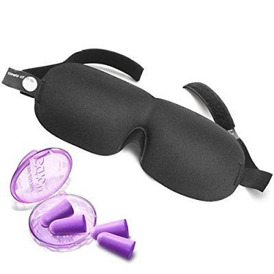eye mask with 2 pairs soft foam