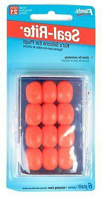 Flents Set of 12 Kids Silicone Ear Plugs - Pack of 3