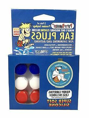 PUTTY BUDDIES Floating Earplugs 3-Pair Pack – Soft Silicon
