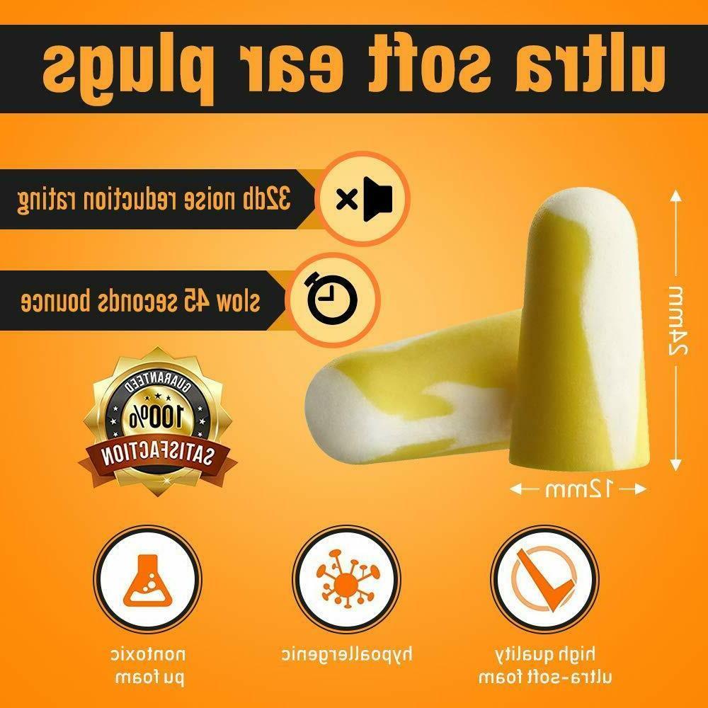 50 Pairs Slim Soft Foam 32dB Highest Small Plugs