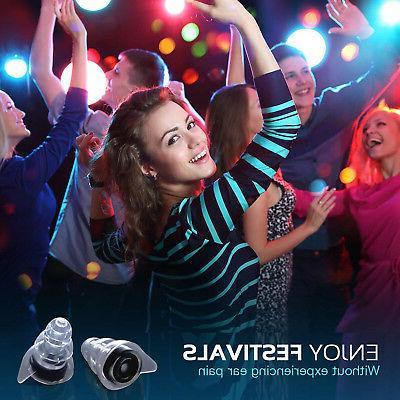 High Fidelity Reusable Music Ear Plugs Hearing 24dB