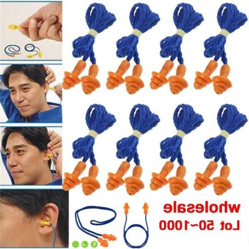 lot 1000 pairs silicone corded ear plugs