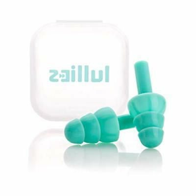 Lullies Ear Plugs for Sleeping Turquoise — Reusable Silico