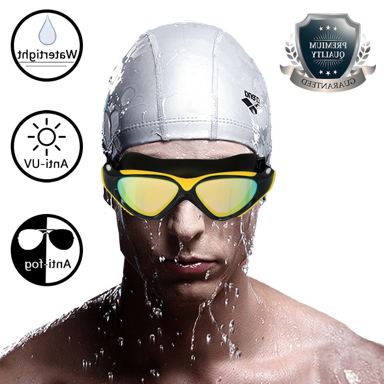 Mirror Swimming Goggles Anti-Fog Swim Glasses with Ear Plug