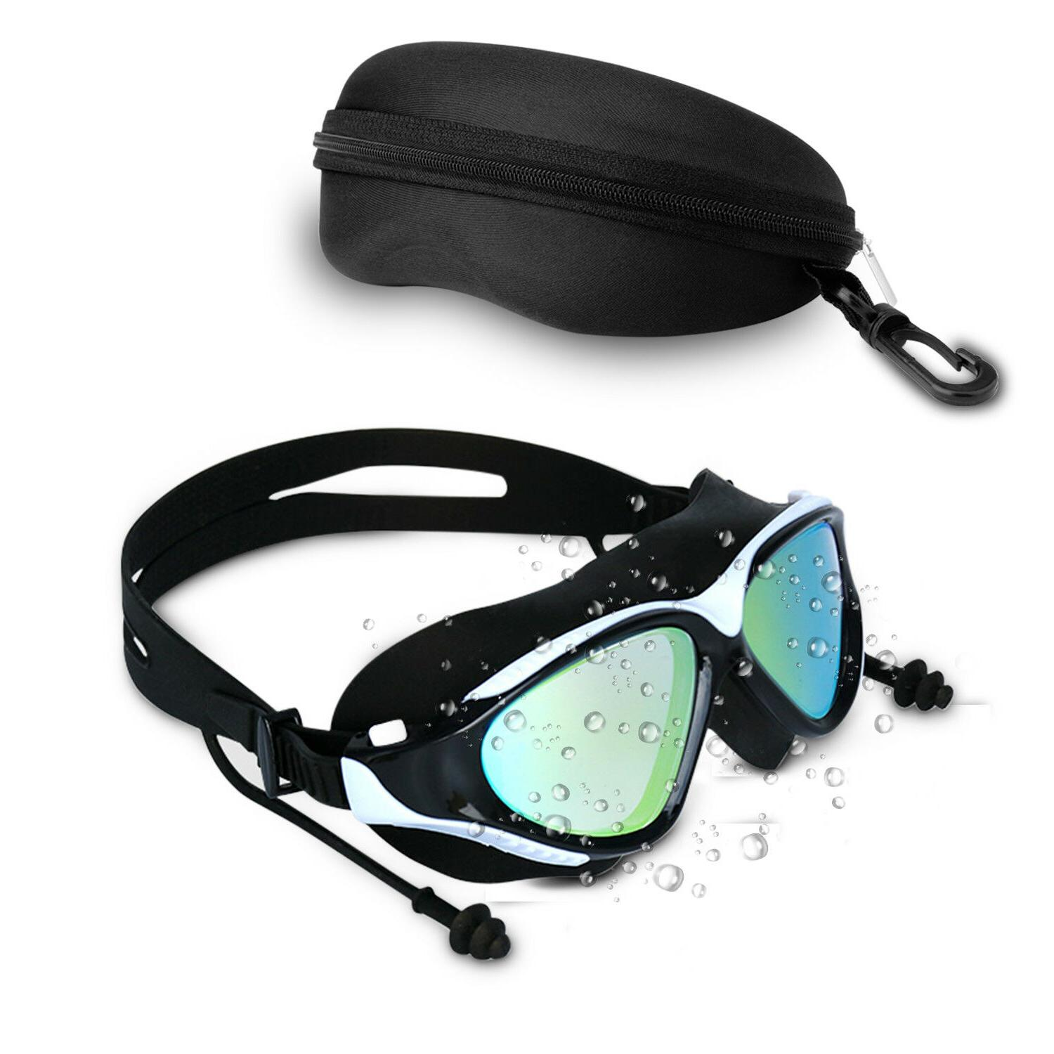 Mirror Goggles Swim Glasses Protection with Ear Plug