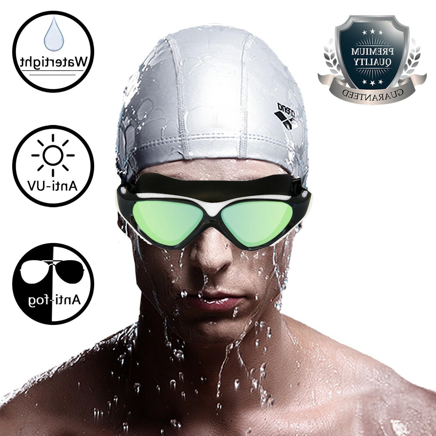 Mirror Swim Glasses UV with Ear Adult