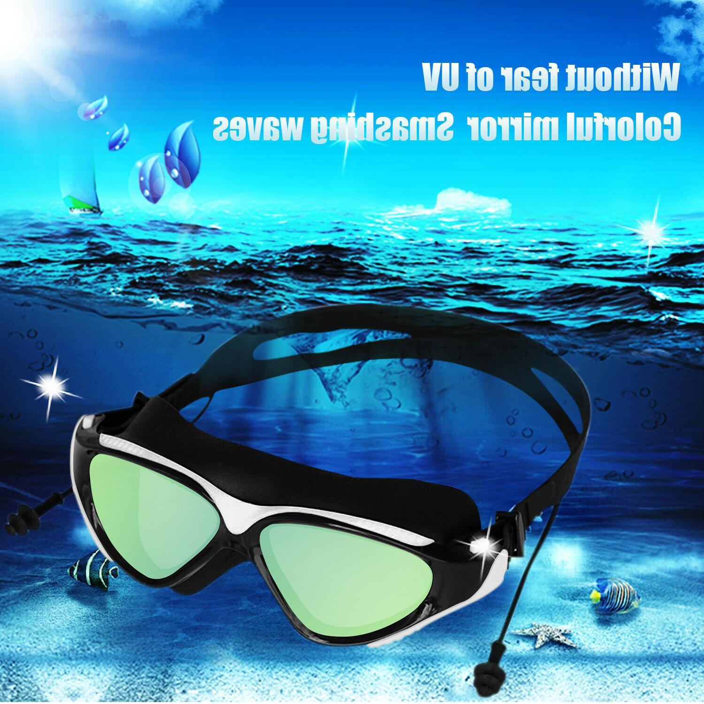 Mirror Goggles Swim UV with Plug