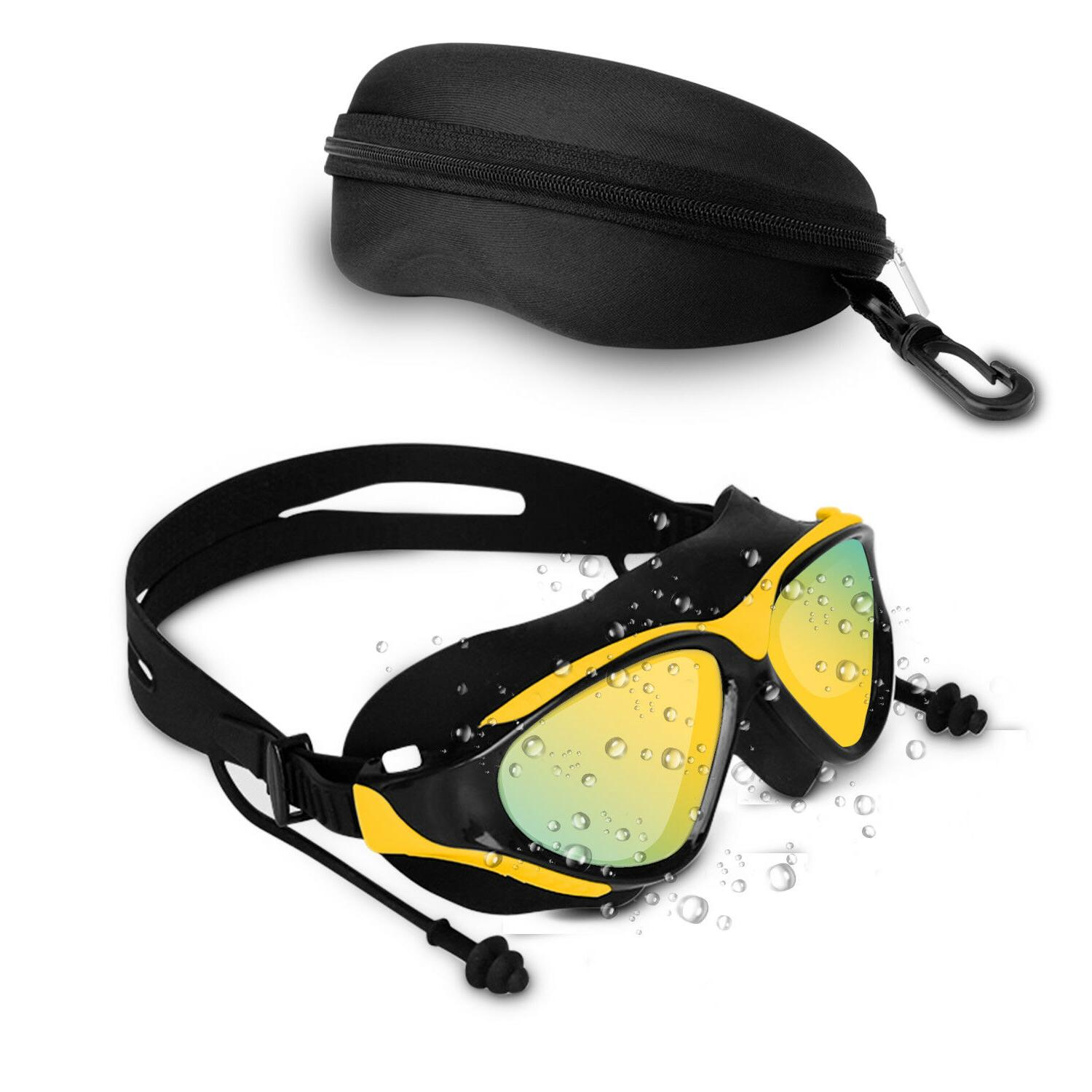 Mirror Swimming Goggles Swim with Plug Adult