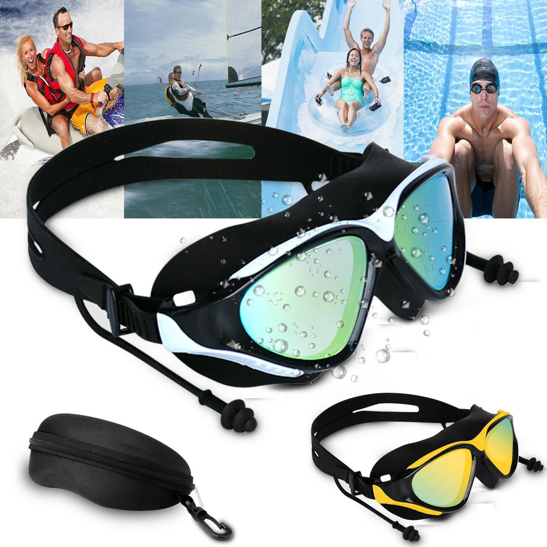 mirror swimming goggles anti fog swim glasses