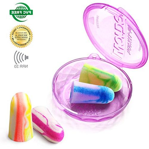 MOLDEX Soft Foam Ear Plugs Earplugs - NRR MADE