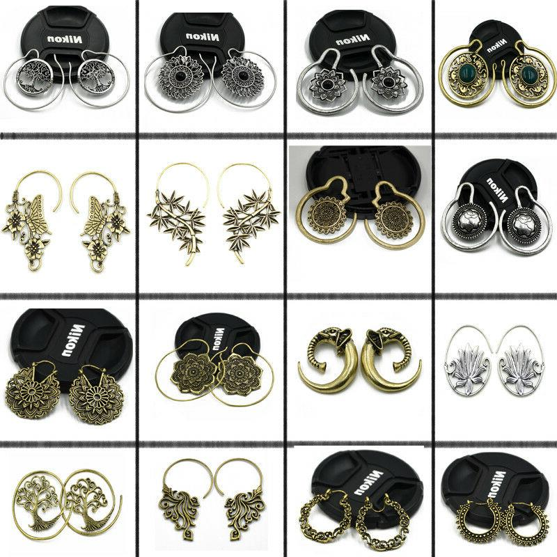 new 2pcs brass ear weight style mixed