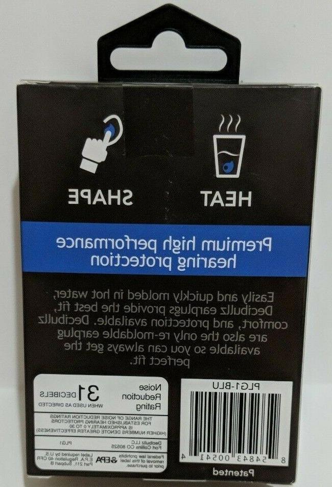 New Decibullz Earplugs Blue Comfortable Protection