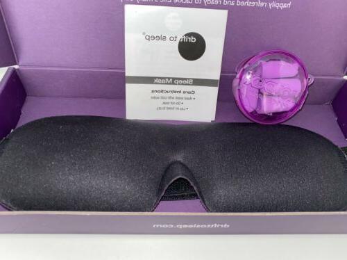New Drift Eye Mask pair Ear Black