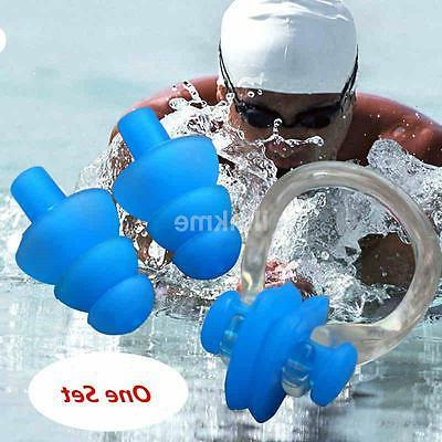 New For Kids Adults Diving Swimming Ear Plugs And Nose Clip