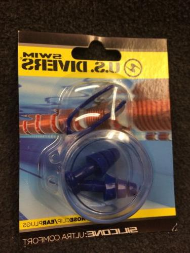 NEW US Divers Silicone Earplug and Nose Clip Swim Swimming C