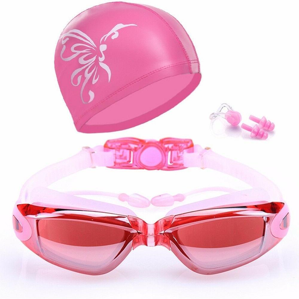 New Summer Swimming Sets Cap Nose Clip