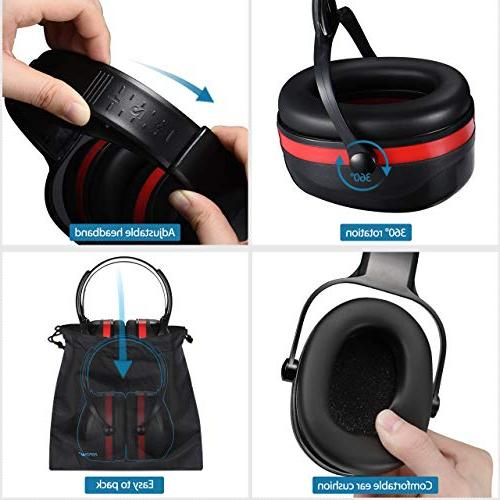 Mpow Ear Muffs, Adjustable 36dB Hearing Protection Carrying Defenders Fits Adults to with Twist