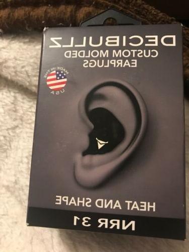 nrr 31 black custom molded earplugs heat