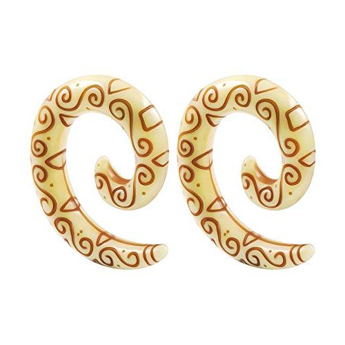 pair acrylic spiral taper tribal