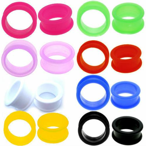 pair large flare soft silicone ear skins
