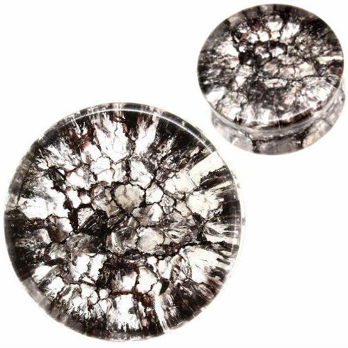 pair smoked shattered quartz organic flesh tunnels