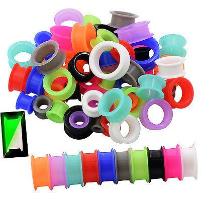 pair thick silicone ear gauges soft ear