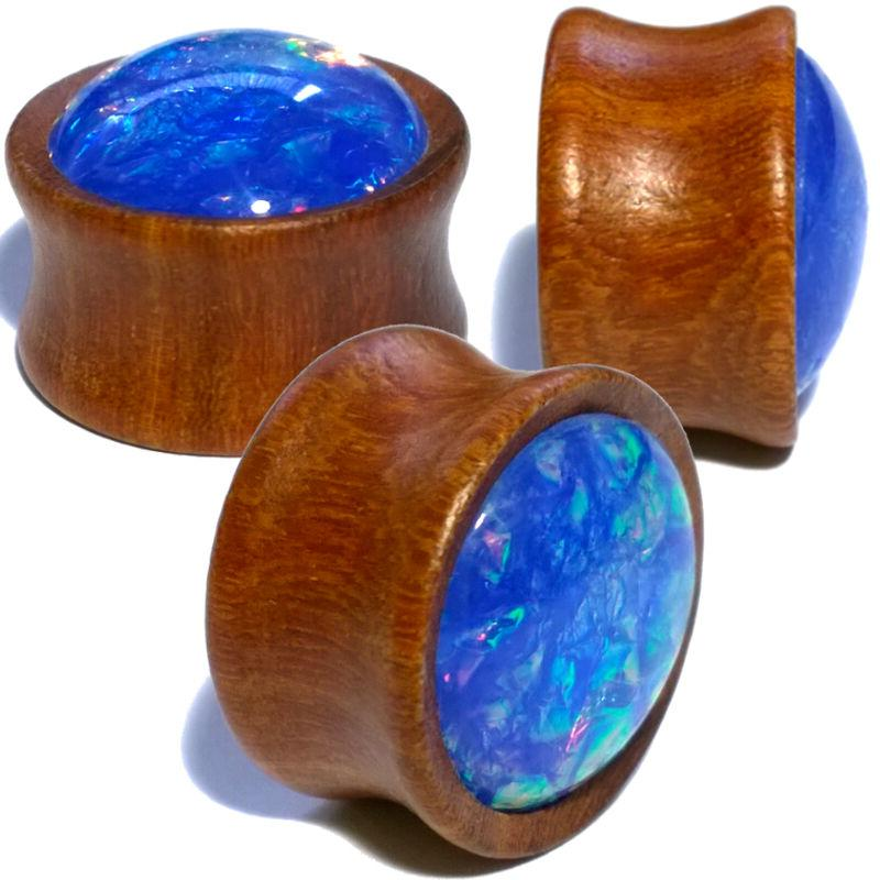 Pair Wood w/Synthetic Saddle Gauges Tunnels
