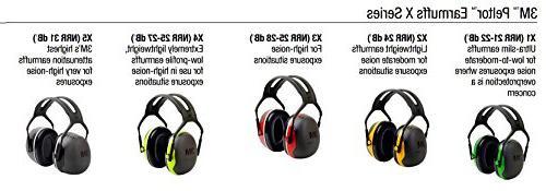 3M X-Series Earmuffs, NRR dB, One Size Fits Most, Black