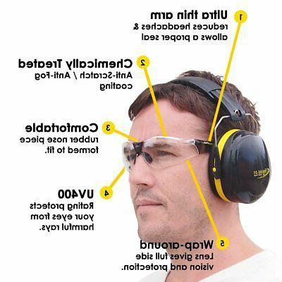 Shooting Ear Muffs Gun UV400 Eye Protect