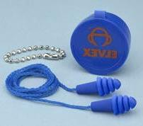 Elvex Quattro  Corded Reusable Ear Plug w/ Container 25nrr,
