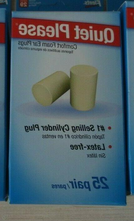 quiet please foam ear plugs latex free