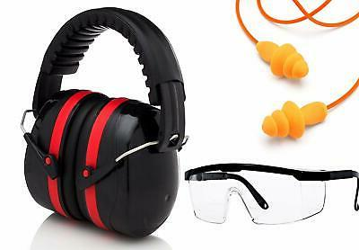 Shooting Ear protection Set Hearing Plugs Safety Glasses,